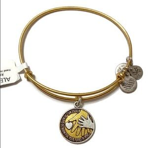 Alex and Ani Hand in Hand Two Tone Bracelet